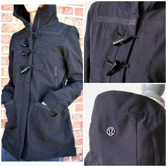 lululemon athletica Jackets & Blazers - Rare Lululemon Paddington Hooded Rain Coat Black